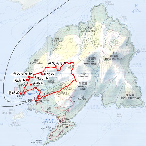 蒲台島地圖