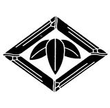 日本貴族家紋「三枚笹」