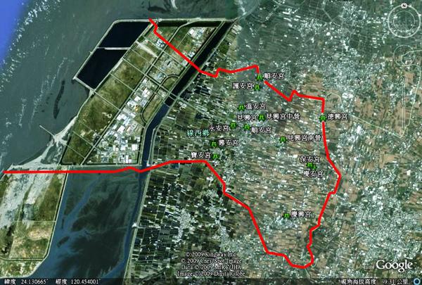 實地登錄的線西鄉廟宇,共計13處.jpg