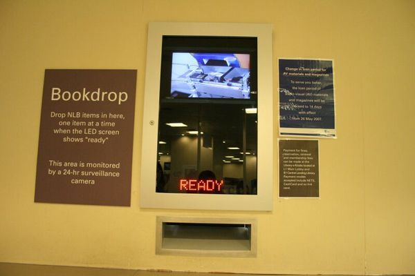 National Library - bookdrop