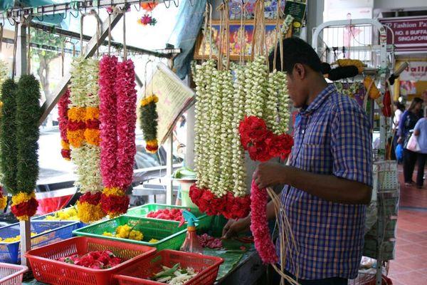 印度教作敬拜用的花串