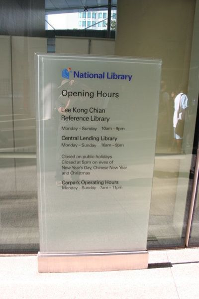 National Library pening hours