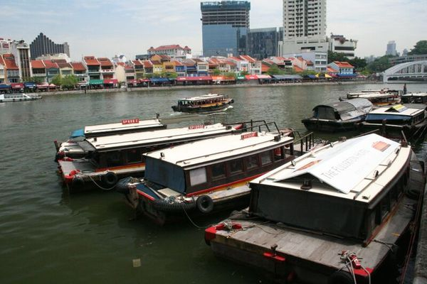 Boats on Singapore River