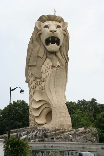 Merlion Park on Sentosa