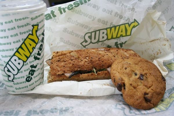 Lunch at Subway
