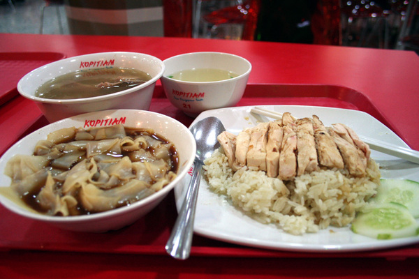 海南雞飯+肉骨茶+粿條