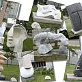 石雕博物館外的展品