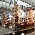 香港機場的聖誕裝飾