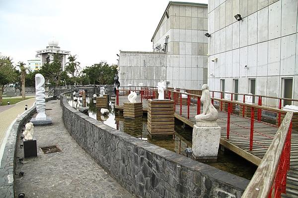 石雕博物館後的水舞台