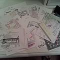 一堆明信片