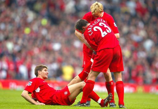 Gerrard&Hyypia&Carragher