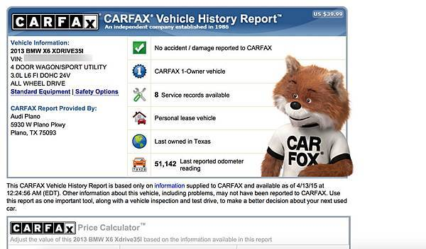 美國carfax 外匯車歷史紀錄