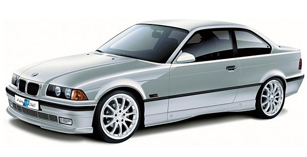4.於1990年 第三代 代號 E36,應該是大家最熟悉的車款,也是車型外觀流線型的最大轉折點。將招牌的鯊魚頭造型換成突出的雙臀式水箱護罩,同時四圓燈也加上燈罩以獲取更優異的風阻係數,顛覆以前的傳統設計,那時候深受年輕人喜愛。