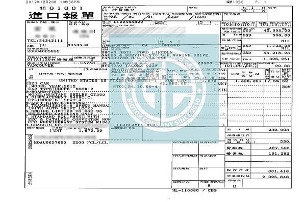 特野馬跑車GT500台灣價格.性能.規格介紹 (外匯車美規 二手價格)