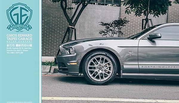 福特野馬維持美式跑車充滿力與美的動感外觀,以俐落的車身線條、長車頭、短車尾、兩門四座、背肌般隆起的引擎蓋和充滿霸氣的前進氣壩,完美呈現美國跑車的精髓。而其特有的設計包括序列式LED尾燈與車側的三色野馬飾條,更成為Mustang獨有的標誌。