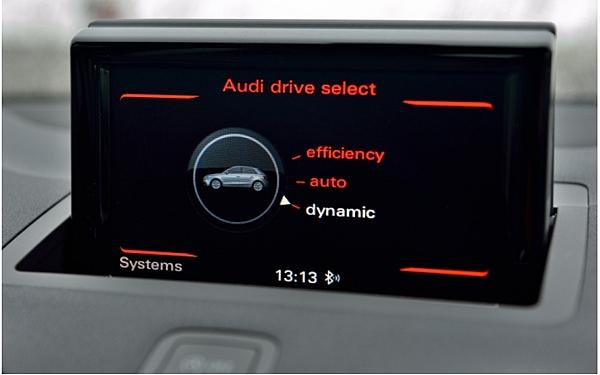 在奧迪s1性能上面基本上具備三種運作模式,Efficiency模式為最具節能性的模式,但引擎出力則會受到限制,Dynamic模式下包括引擎、油門反應以及懸吊設定都會調整至最具運動化的姿態,不過因為Dynamic模式太過於緊繃,一般用車情況下還是以Auto模式最為適宜。
