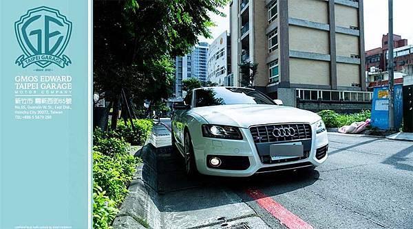 11年式 Audi S5 傳動系統和長度寬度  驅動型式 四輪驅動  變速系統 6速手自排  車長 4635mm  車寬 1854mm  車高 1369mm  車重 1675kg  軸距 2751mm