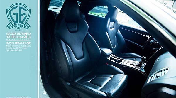 Audi S5跑車座椅具有很好的包覆與支撐性,同時還具有電動加熱功能。