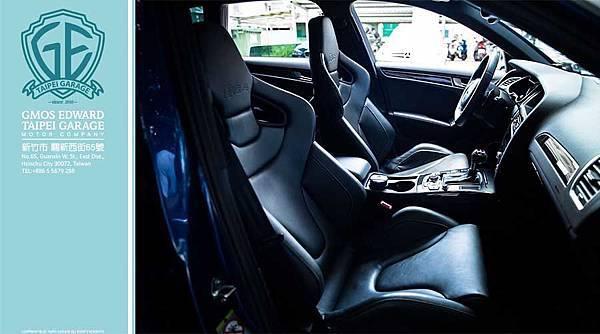 各位有發現了嗎?這款奧迪RS4五門旅行車的座椅是蝴蝶椅喔,全台灣超稀有選配  蝴蝶椅選配的價錢是16萬!!