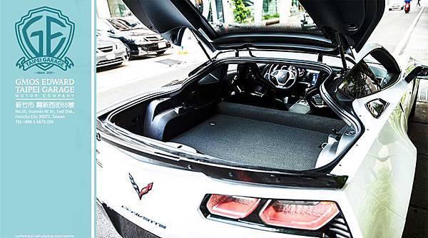 雪佛蘭CHEVROLET CORVETTE Z06 擁有傳統美式肌肉車的特色,就是後車廂空間大!!