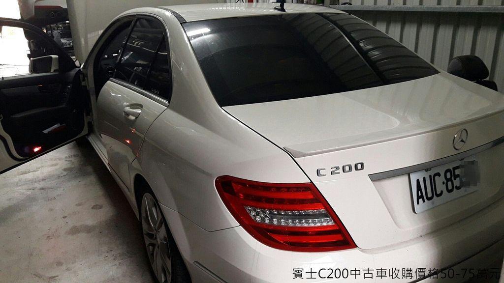 賓士C200 W204中古車收購實例,台北趙先生舊車要出售換新車,LA中古車估價行情約60萬,實際看車收購60萬
