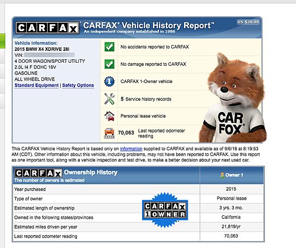 bmwX4 XDrive28i F26美規外匯車carfax&autocheck檢查報告  在台灣市面的中古車行,看得到實車可能都懷疑車況的真實性了,更何況是遠在美國的外匯車呢?  購買美國外匯車要避免買到事故車、泡水車、檸檬車該怎麼預防呢?  所有外匯車在購買進口前,一定要查詢carfax&autocheck檢查報告,  確定車輛有沒有事故紀錄?有沒有Lemon Car(檸檬車)?里程數準不準?