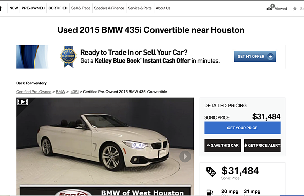 BMW 435i Convertible價格