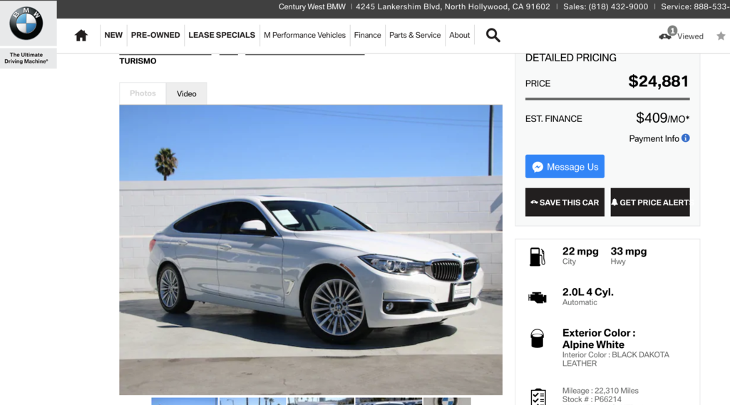 BMW328IGT價格