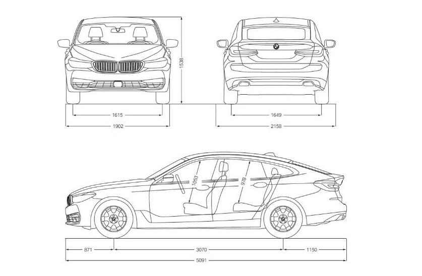 640i Gran Turismo 車身外觀長寬高及軸距