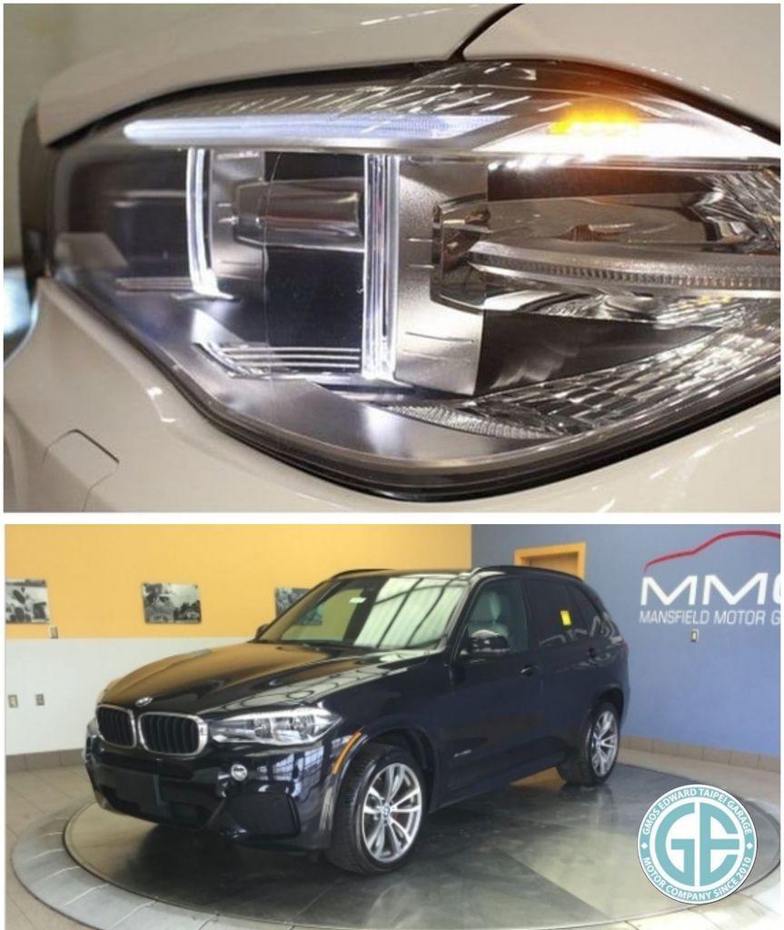 美規BMW X5 35ix f15外匯車車頭造型換上BMW新家族面貌,全車燈光設計也全面運用了最新的LED光源技術  包括LED大燈、LED光圈日行燈、LED 方向燈,還可選配 LED 前霧燈