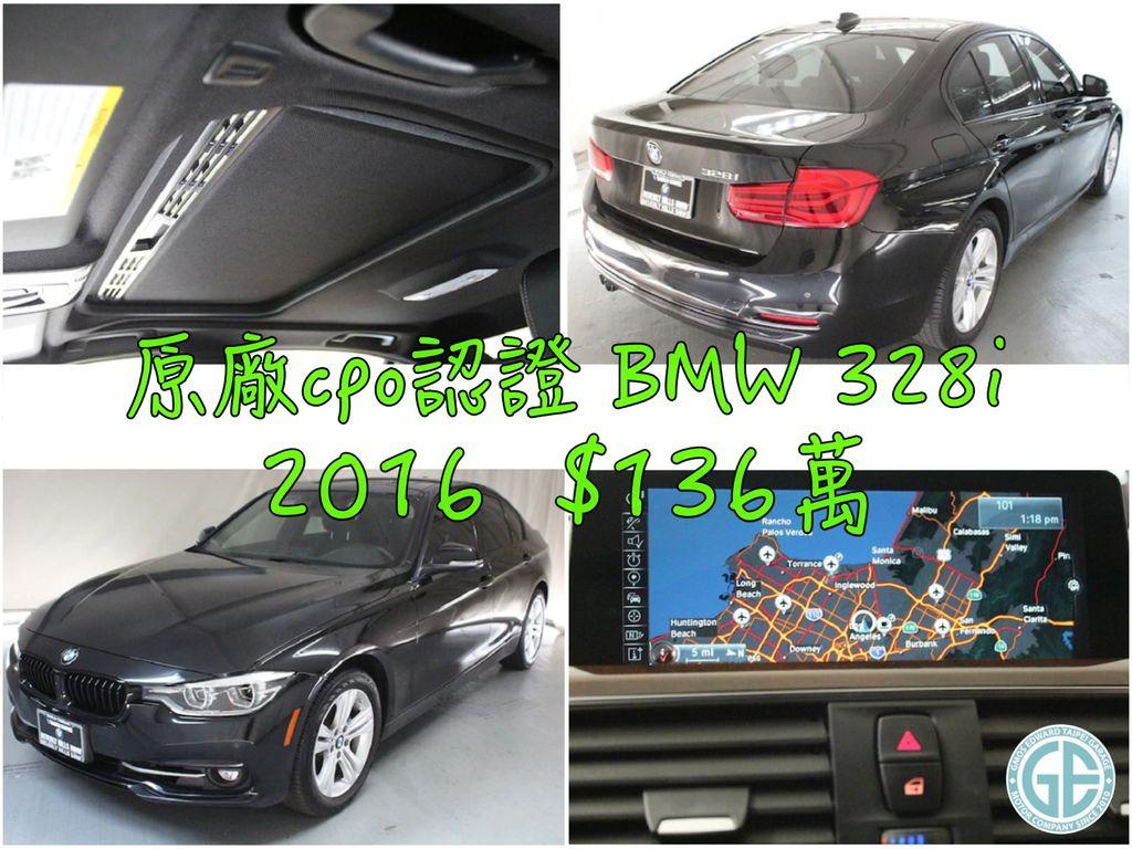 2016/05出廠 公里數:9944英哩 美國原廠CPO認證外匯車 BMW328i F30 團購價格$136萬  選配:倒車顯影、運動座椅、加熱座椅、駐車雷達(PDC)、LED霧燈、導航系統