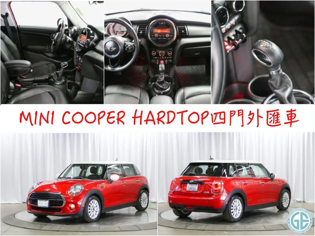 第二台 美國進口Mini Cooper 4門版團購外匯車2015/08 出廠 里程數:4萬英哩 選配:多功能、皮革方向盤、全景天窗、皮椅
