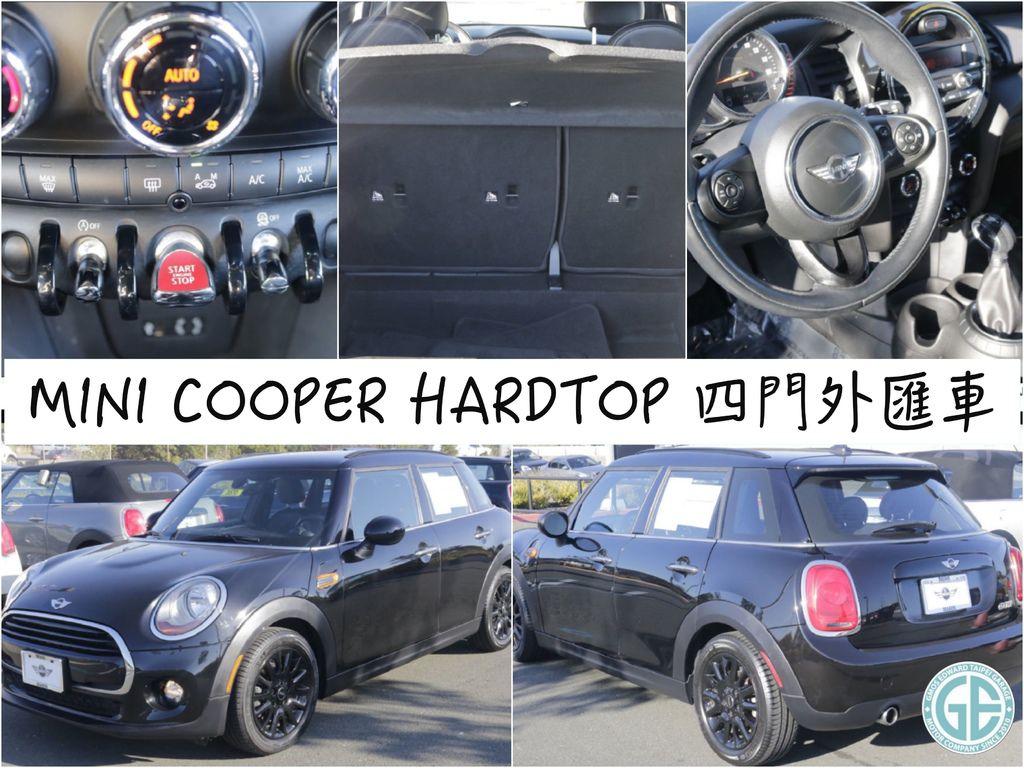 第三台 美國進口Mini Cooper 4門版團購外匯車 2015/11出廠 CPO原廠認證外匯車 里程數:2.7萬英哩 選配:多功能、皮革方向盤、皮椅、車頂架