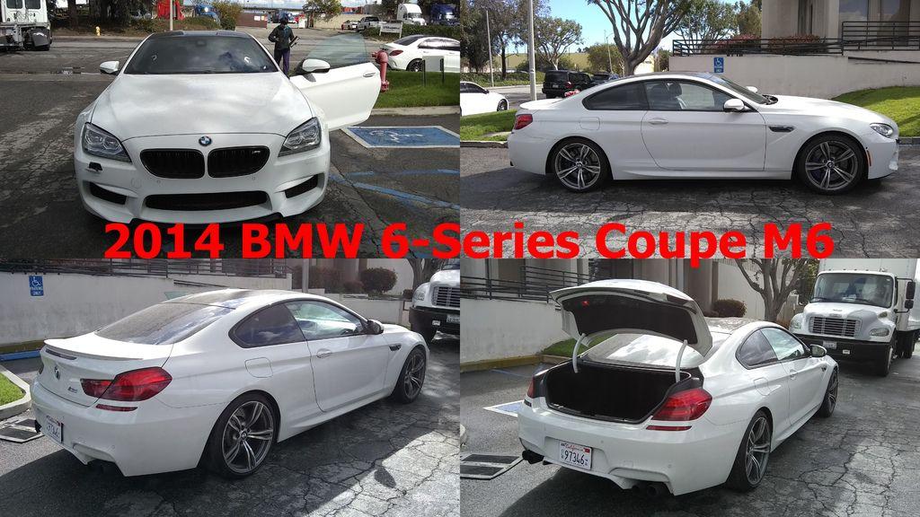 2014 BMW 6-Series Coupe M6  車身座位  兩門四人座  性能數據  560hp@6000rpm、69.3kgm@1500rpm  變速系統  雙離合器7速手自排  引擎形式  渦輪增壓、V型8缸、DOHC雙凸輪軸、32氣門  排氣量  4395c.c.  2014 BMW M6雙門跑車價格區間200-240萬,任何顏色配備里程數的車都有,但是配備越多里程數越低,價格越貴