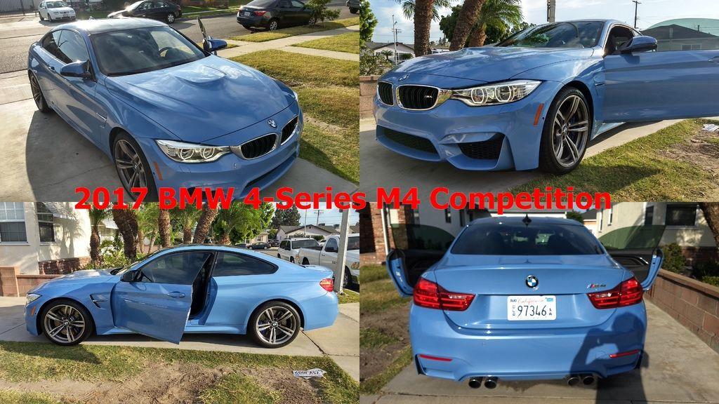 2017 BMW 4-Series M4 Competition  車身座位  兩門四人座  性能數據  450hp@7000rpm、56.1kgm@1850~5500rpm  變速系統  雙離合器7速手自排  能量消耗  市區8.08km/ltr、高速13.36km/ltr、平均10.8km/ltr  引擎形式  渦輪增壓、直列六缸、DOHC雙凸輪軸、24氣門  排氣量  2979c.c.  這台BMW M4承襲了3系列Coupe的運動基因,擁有低扁寬闊、修長的車身輪廓、增進空氣力學的車側導流氣孔、氣簾設計,搭載BMW EfficientDynamics高效動力,並且M TwinPower Turbo雙渦輪增壓直列六缸引擎使0-100km/h僅需4秒可以完成,開啟雙門跑車新風貌的大門,