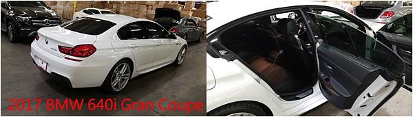 但要注意的是,因為是跑車的款式,車高並不是太充裕,壓迫感可能會比較重,座椅包覆性很好,後座乘客在轉彎時不太會被拋來拋去,中控台直接延伸到後座,所以中間並不會坐得太舒服,不過如果是小家庭或是兩人生活,這款車同時提供跑車的激情與房車享受。 2017 BMW 640i Gran Coupe全新車419萬,目前外匯車約190-220萬,配備越多里程越低,價格越高。