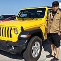 美國 jeep 新車展示中心,wrangler 牧馬人 黃色