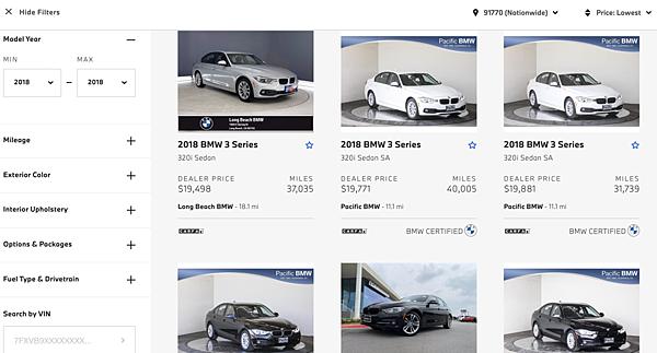 2018年 bmw f30 330i,bmw 原廠認證車,美國中古車市場價格分析比較,美國運車回台灣費用計算,