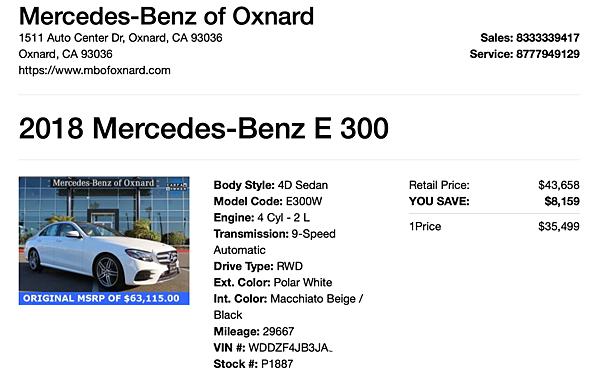 美國加州賓士原廠 Oxnard cpo認證 w213 e300 白色 amg版,640多光束感應頭燈