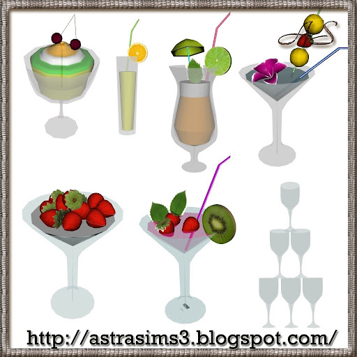 AstraSims3-Decor set 02_Coctail