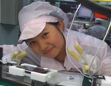 iphone女孩 「中國最美的打工妹」。