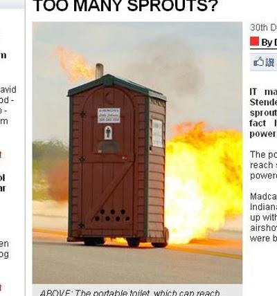 噴射版 奔跑 流動廁所 透過波音噴氣式發動機移動,最快可達到每小時70英里。(圖/截取自jalopnik)