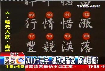 2010 代表字
