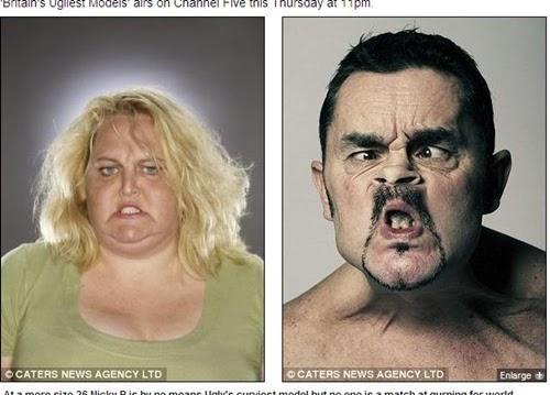 英國 醜人模特兒 公司 培養出1000多名能做出醜陋表情的專業人才