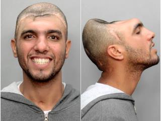 半腦犯人 網路上瘋傳一張嚇人的囚犯照