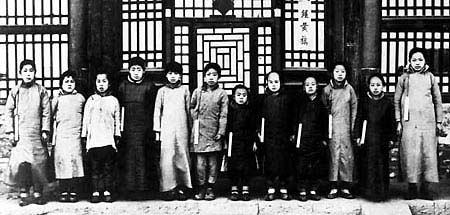清朝皇宮選秀 場面 等待被選的清末內務府三旗女子