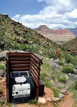 無敵美景好廁所 大峽谷的廁所。