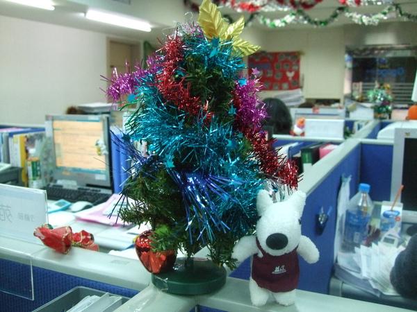 008-吉帝旅遊2009聖誕節3樓-迷你聖誕樹+7-11Gaspard.JPG