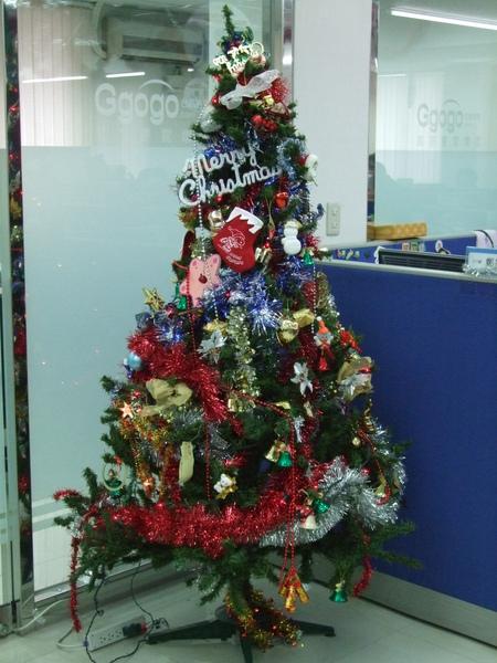 吉帝旅遊2009聖誕節4樓-好精緻的聖誕樹.JPG