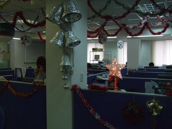 吉帝旅遊2009聖誕節4樓-粉紅閃耀星星燈.JPG